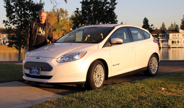 Doug Kerr with new 2017 Ford Focus Electric