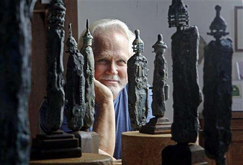 Dow and his sculpture