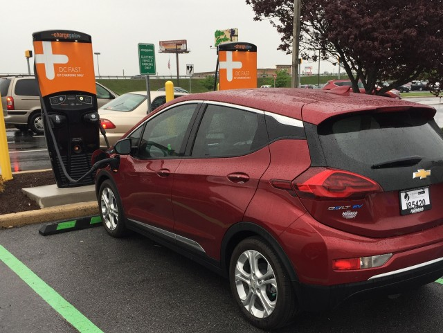 Driving a 2017 Chevrolet Bolt EV from Virginia to Missouri, June 2017 [photo: Bill Massmann]