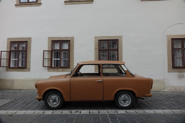 Driving a Trabant in Budapest