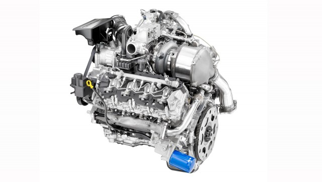Duramax turbocharged 6.6-liter V-8 diesel engine