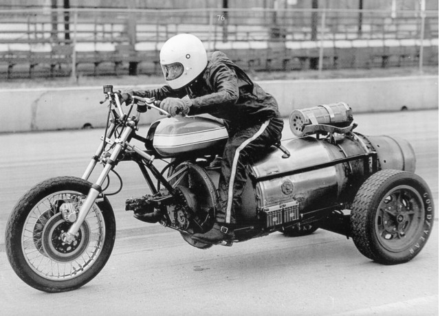 E.J. Potter, the 'Michigan Madman,' hit almost 200 mph on a jet-engine powered trike [Potter family]