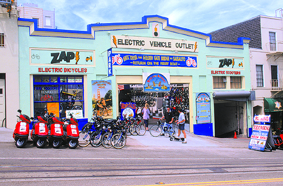 San Francisco's e-Motors is taking green machines to the streets.