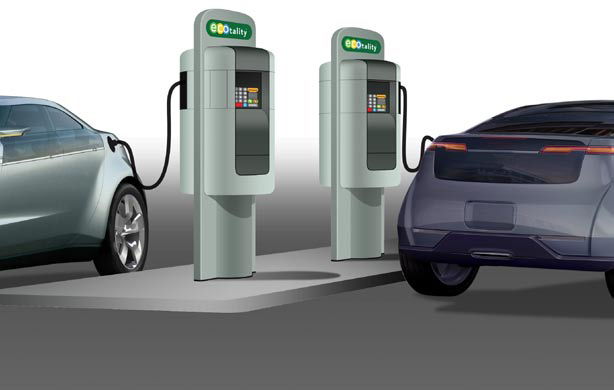 Charging Electric Cars At Gas Stations