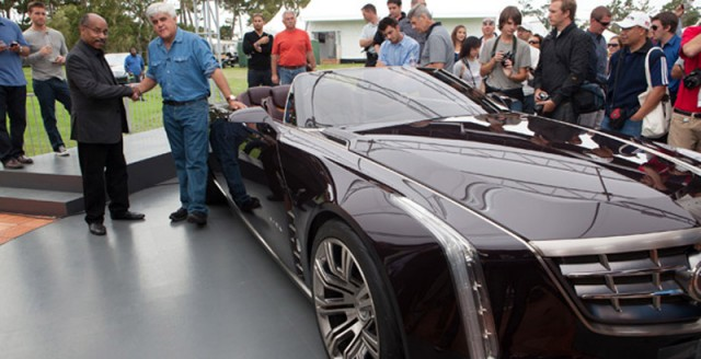 Ed Welburn and Jay Leno with the 2011 Cadillac Ciel Concept