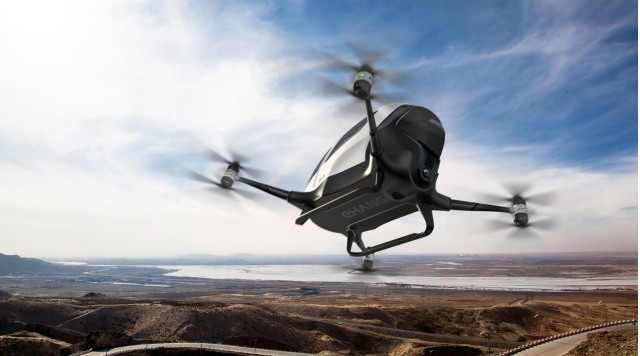 Ehang 184 autonomous passenger drone concept - 2016 Consumer Electronics Show