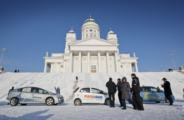 Electric car drivers in Helsinki. Image: electrictraffic.fi