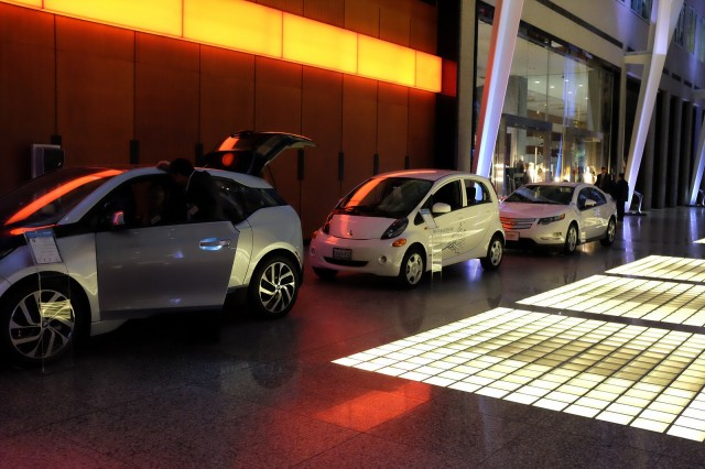 Electric cars on display at EV 10,000, celebrating Canada's 10,000th plug-in electric car delivered