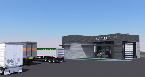 Electric Island - Portland, OR - Daimler Trucks and PGE (rendering)