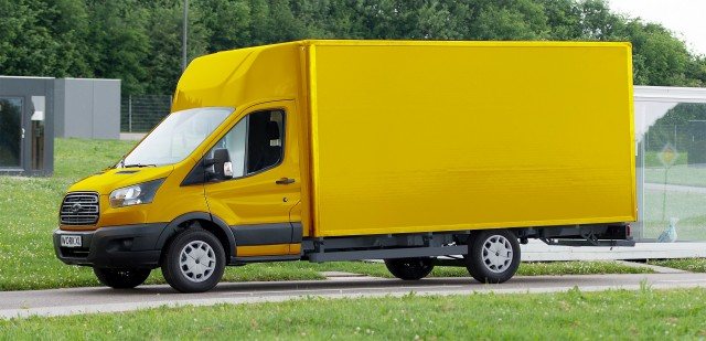 Electric mail delivery van based on Ford Transit chassis, by Deutsche Post StreetScooter with Ford