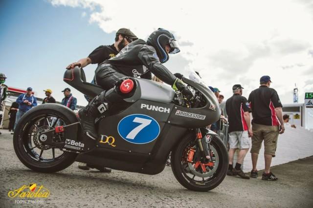 Electric motorcycle at 2016 Isle of Man TT Race: Sarolea