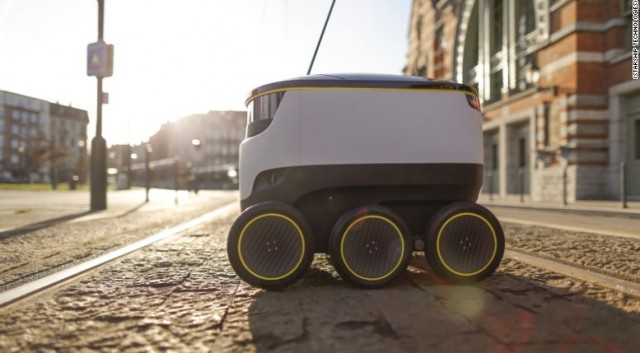 Electric sidewalk delivery robot from Starship Technologies