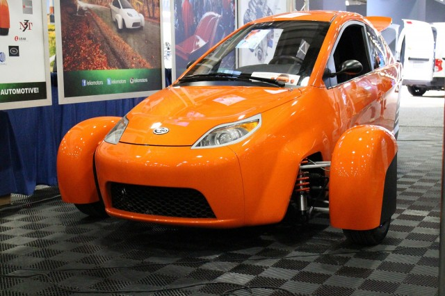 Elio Motors prototype at New York Auto Show press conference, Apr 2015