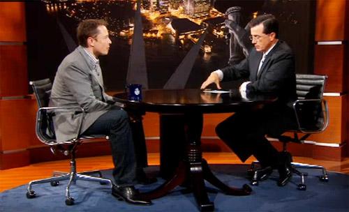Elon Musk on The Colbert Report