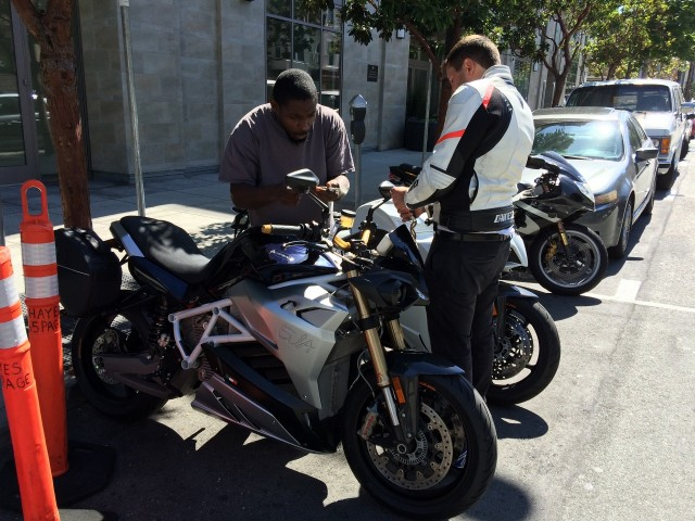 Energica Eva electric motorcycle test ride, San Francisco Bay Area