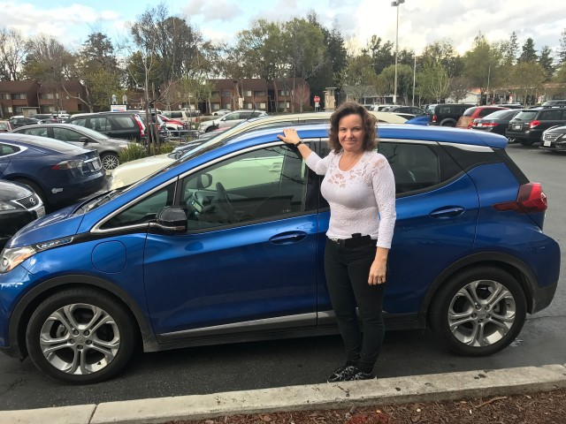 Owner Dawn Hall before 800-mile road trip in 2017 Chevrolet Bolt EV electric car