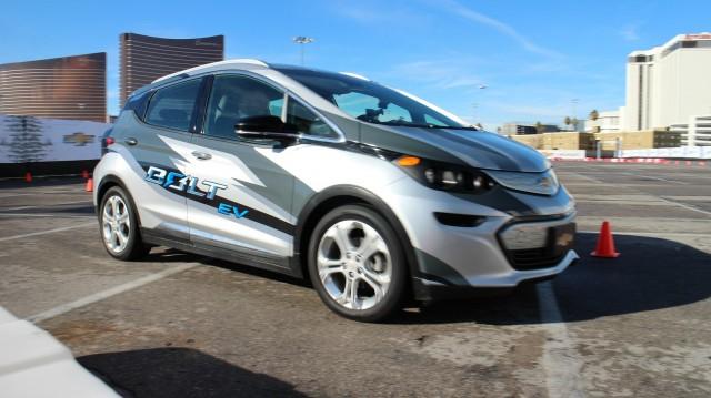 Engineering development version of Chevrolet Bolt EV, Las Vegas, Jan 2016