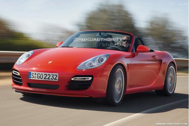 Entry-level Porsche Roadster rendering
