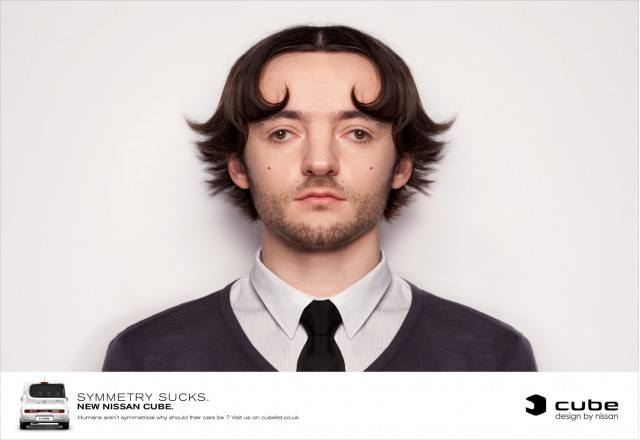 European ad for the Nissan Cube 'Symmetry Sucks' campaign