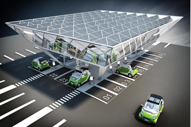 Evoasis charging station rendering