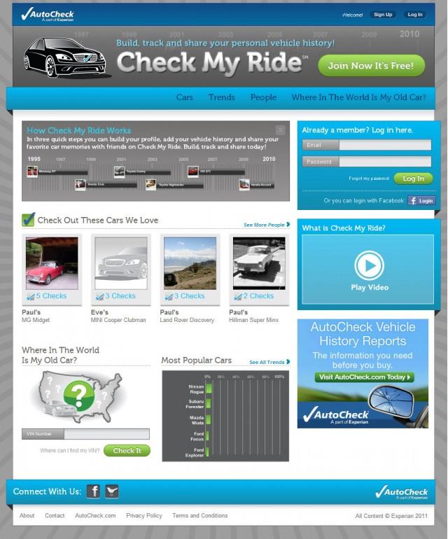 Experian Automotive's CheckMyRide.com