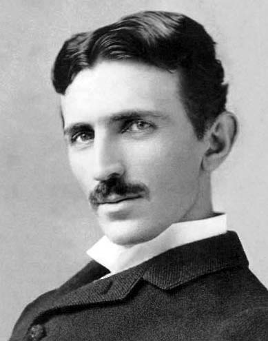 Famed electrical engineer Nikola Tesla, scanned image from postcard c. 1890.