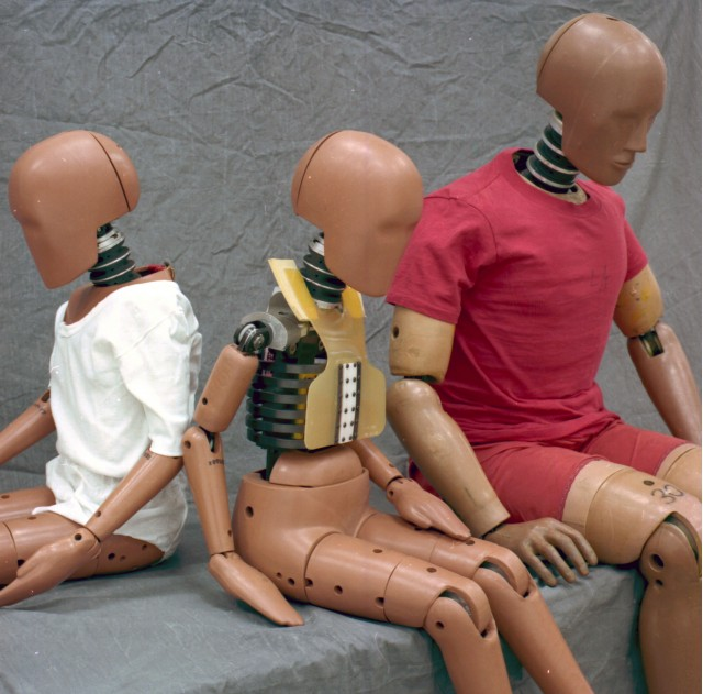 family of crash-test dummies - courtesy Ford Motor Co.