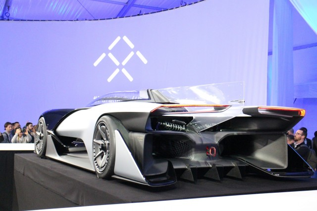 Faraday Future Ffzero1 Concept Unveiled At 2016 Consumer Electronics Show Las Vegas