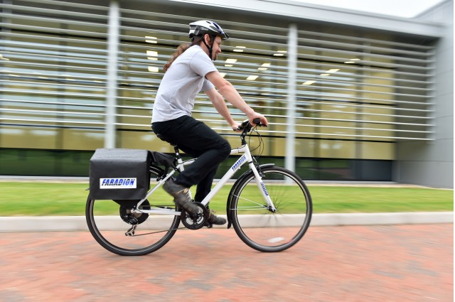 Faradion prototype electric bicycle powered by sodium-ion battery pack