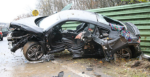 Pictures Of Expensive Cars In Terrible Accidents