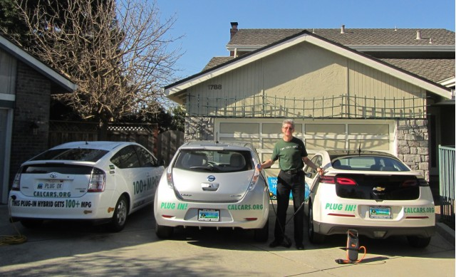 Felix Kramer And His Fleet Nissan Leaf Chevy Volt Plug In Prius
