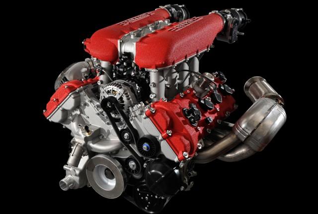 Ferrari 4.5-liter V-8 gasoline engine