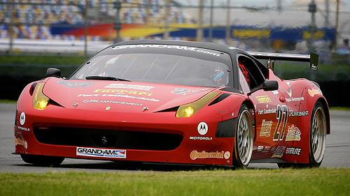 Ferrari 458 Italia on the road course at Daytona International Speedway Photo courtesy: Grand-Am