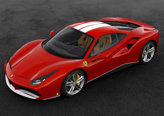 Ferrari 488 GTB 70th anniversary edition inspired by 2003 Ferrari F2003-GA raced by Schumacher