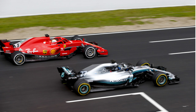 Ferrari and Mercedes-AMG during 2018 Formula 1 World Championship pre-season tests