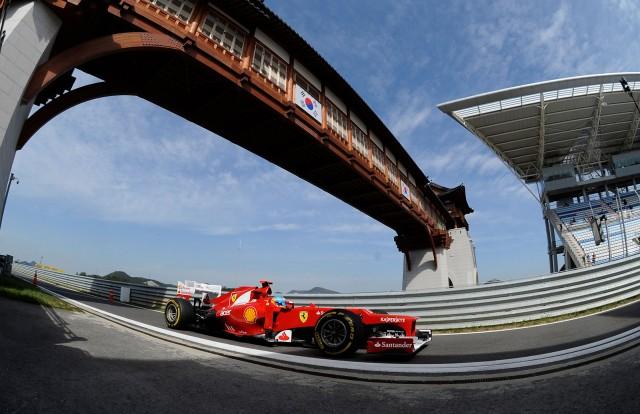 Ferrari at the 2012 Formula 1 Korean Grand Prix