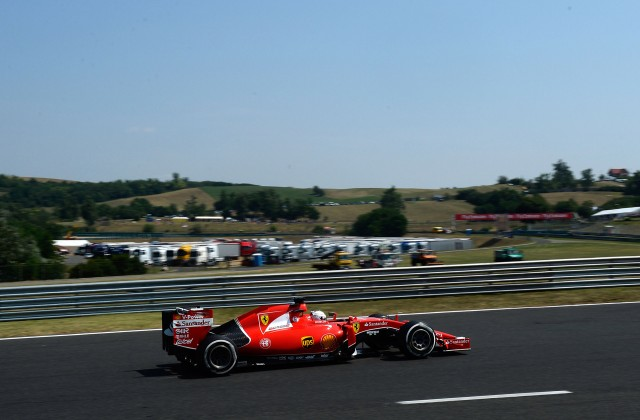 Ferrari at the 2015 Formula One Hungarian Grand Prix
