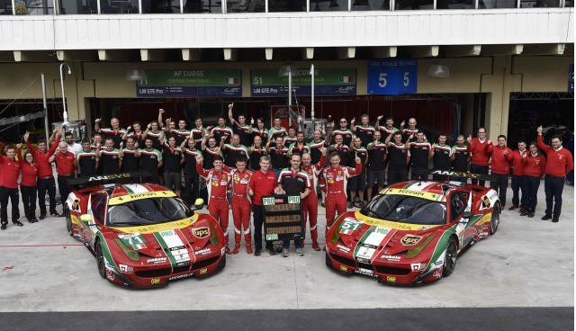 Ferrari celebrates Drivers' and Manufacturers' titles in 2014 World Endurance Cup
