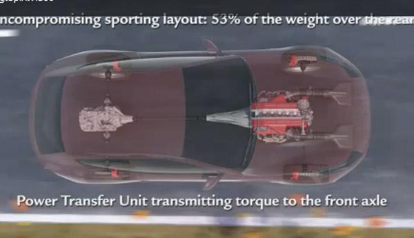 Ferrari FF four-wheel drive system video