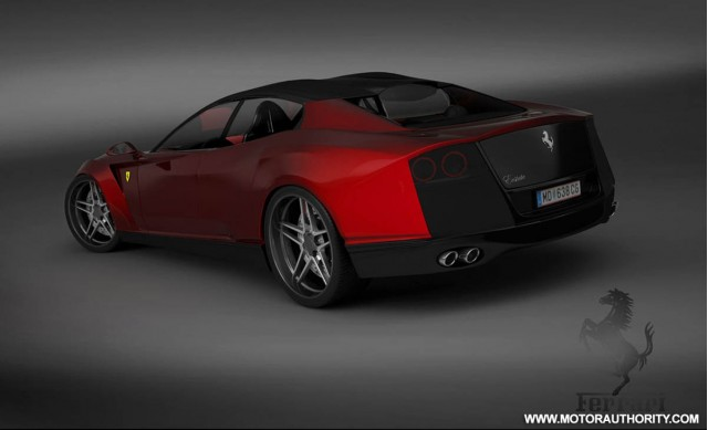 ferrari four door rendering 010