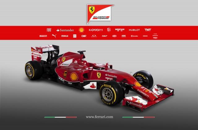 Ferrari's F14 T 2014 Formula One car