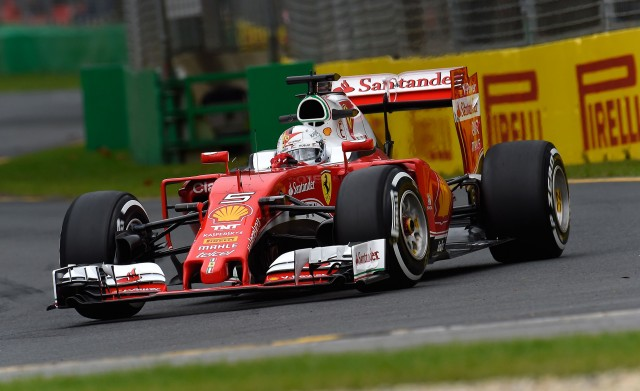Ferrari's Sebastian Vettel at the 2016 Formula One Australian Grand Prix