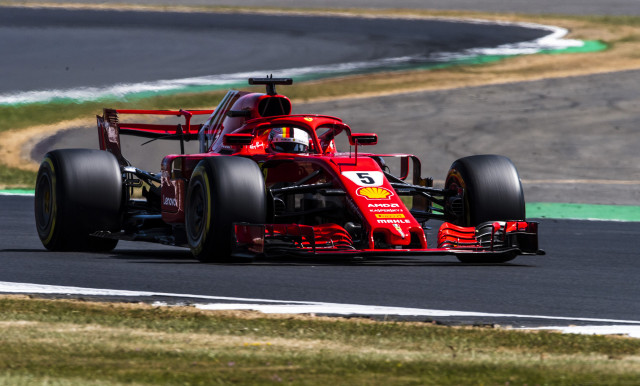Ferrari's Sebastian Vettel at the 2018 Formula 1 British Grand Prix