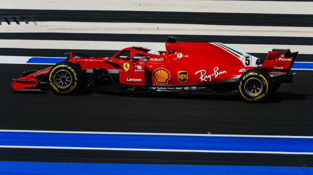 Ferrari's Sebastian Vettel at the 2018 Formula 1 French Grand Prix