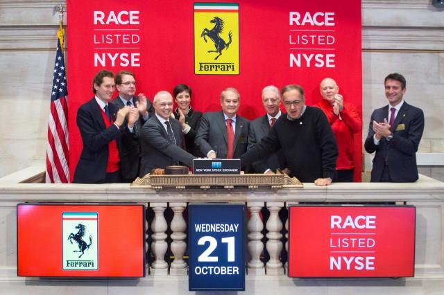 Ferrari's Wall Street debut on October 21, 2015
