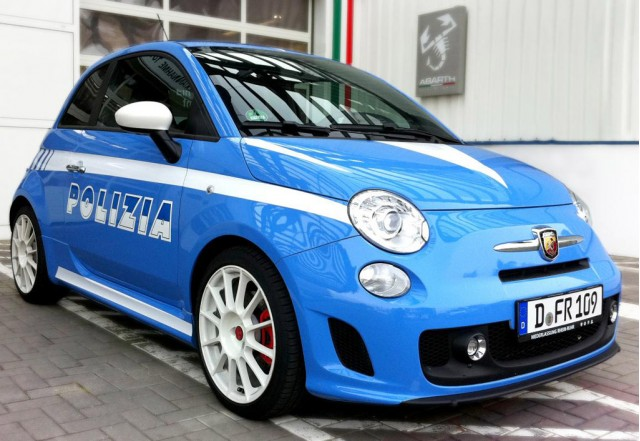 fiat 500 abarth in police livery headed to 2010 essen motor show. Black Bedroom Furniture Sets. Home Design Ideas