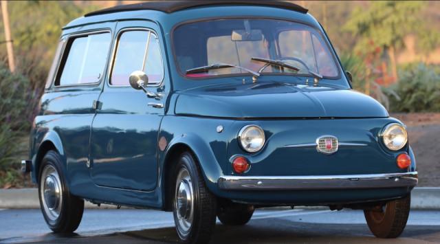 Icon 1966 Fiat 500 Giardiniera electric powertrain swap