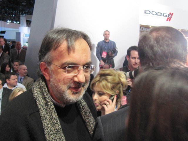 Fiat-Chrysler CEO Sergio Marchionne at 2012 Detroit Auto Show