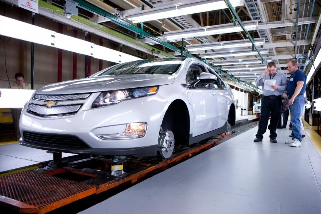 Image result for Chevy Volt, assembly line, photos