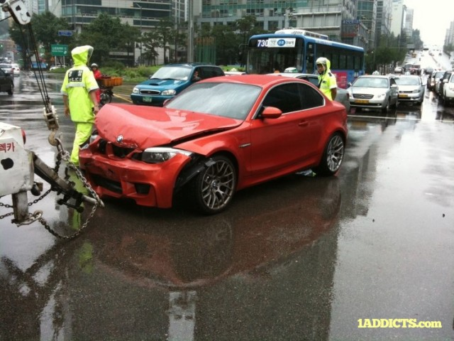 First 2011 BMW 1-Series M Coupe Wrecked